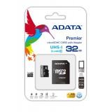 ADATA 32GB MicroSDHC Atminties Kortelė UHS-I Class10 +SD adapteris