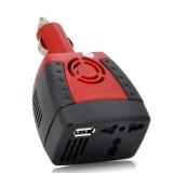 Automobilinis Įtampos Keitiklis 12V->220V (150W + 5V USB)