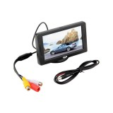 "4.3"" LCD Universalus Monitorius 12V (Dual AV in, Galinio vaizdo, DVD, CCTV)"