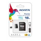 ADATA 16GB Atminties Kortelė MicroSDHC UHS-I Class10 +SD adapteris